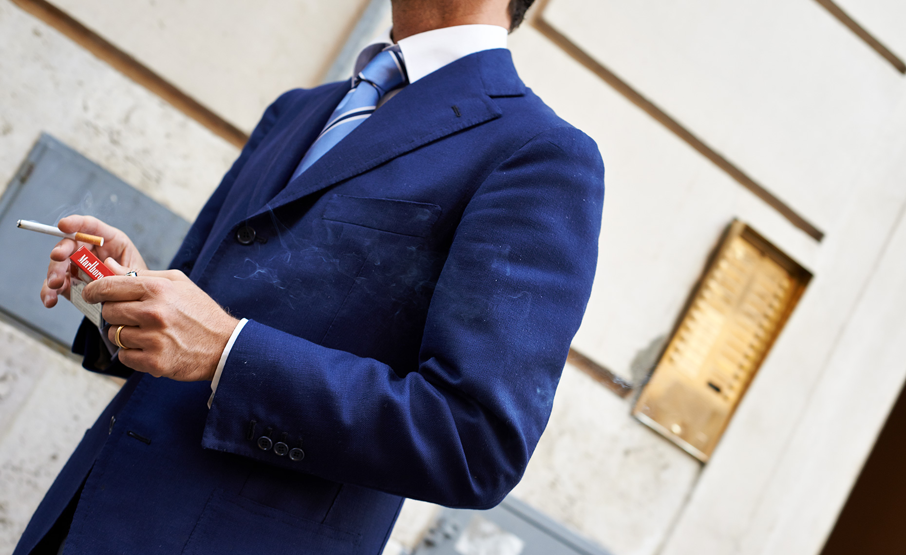 Rome, Man in blue suit
